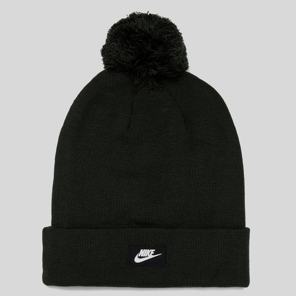 separation shoes 6e973 9f04e Unisex Nike Dark Green Pom Beanie Hat